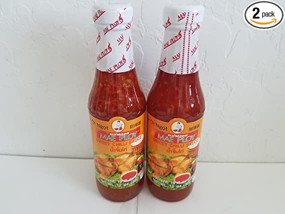 Amazon Com Mae Ploy Sweet Chili Sauce Bottle 12 Ounce Pack Of 2 Chile Sauces Grocery Gourmet Food