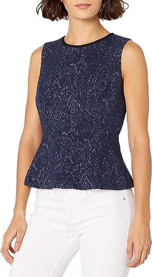 Kasper Women/'s Petite Sleeveless Suiting Shell Top