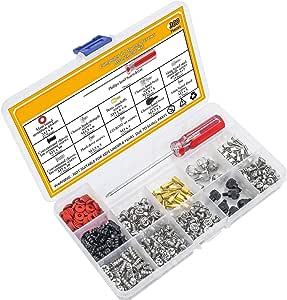 ACAMPTAR Kit 300Pcs Ordenador Personal Tornillo Separadores Conjunto Surtido con un Destornillador de Disco Duro del Ordenador de Casos de la Placa Base Ventilador Potencia Gráfica: Amazon.es: Electrónica