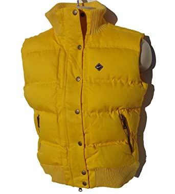 81e927322d60 Nike Womens Yellow Padded Gillet Bodywarmer Quilted Coat Jacket - Sizes XS