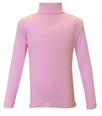 7464074eeb8caf Panzy® Kids Girls Cotton Polo Neck Jumper Roll Neck Jumper Long Sleeved Tops  2-13 yrs: Amazon.co.uk: Clothing