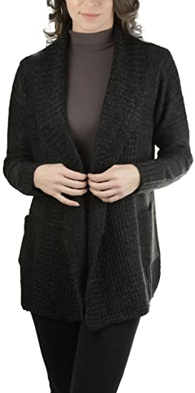 95adadd9bab ToBeInStyle Women's Long Sleeve Fold Over Collar Cardigan