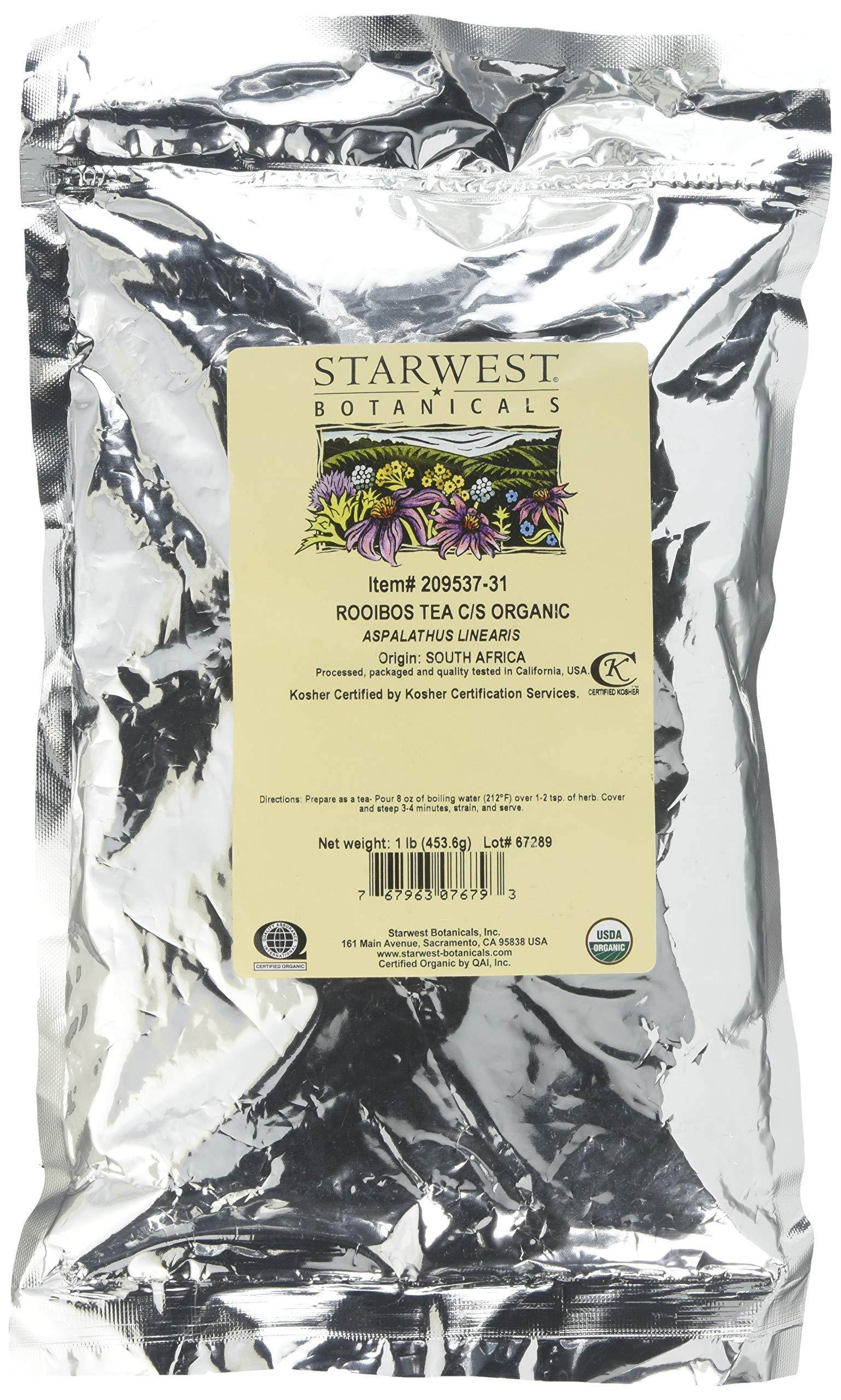 Starwest Botanicals C/S Organic Rooibos Tea, 2 Pound