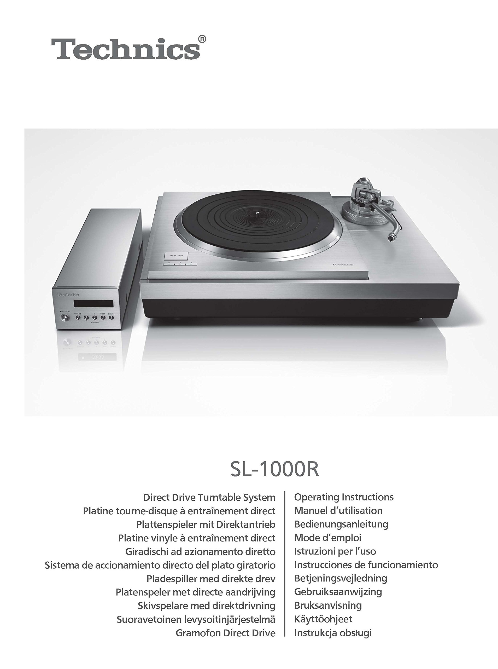 Technics SL-1000R Turntable Owners Instruction Manual