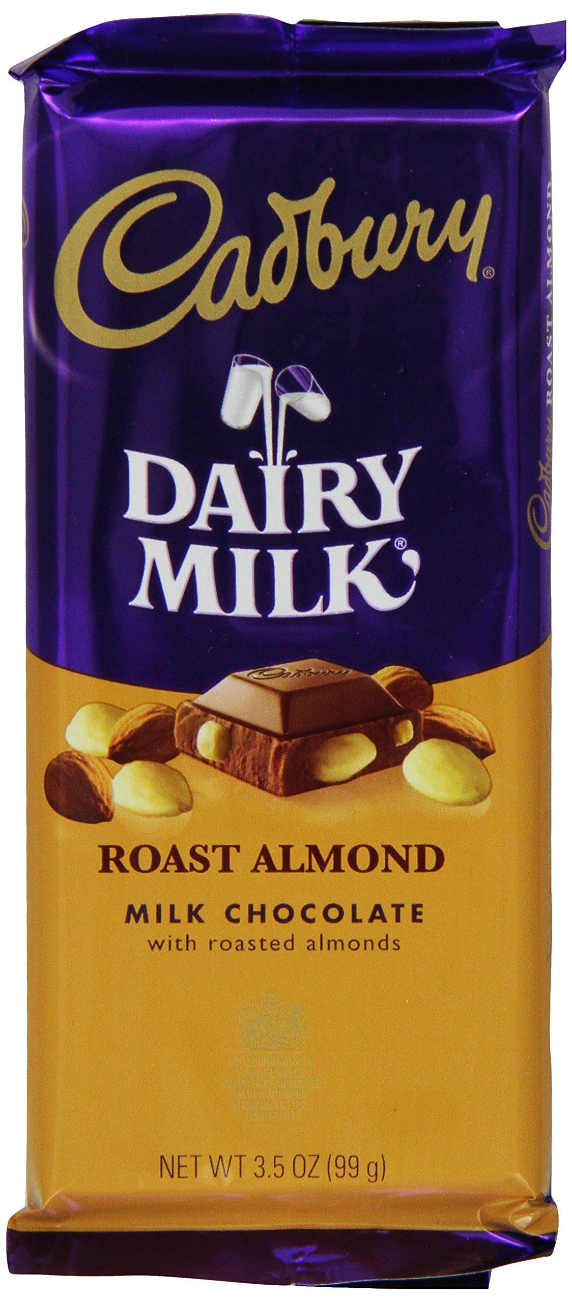 CADBURY DAIRY MILK Roast Almond Milk Chocolate Bar, 3.5 Ounce