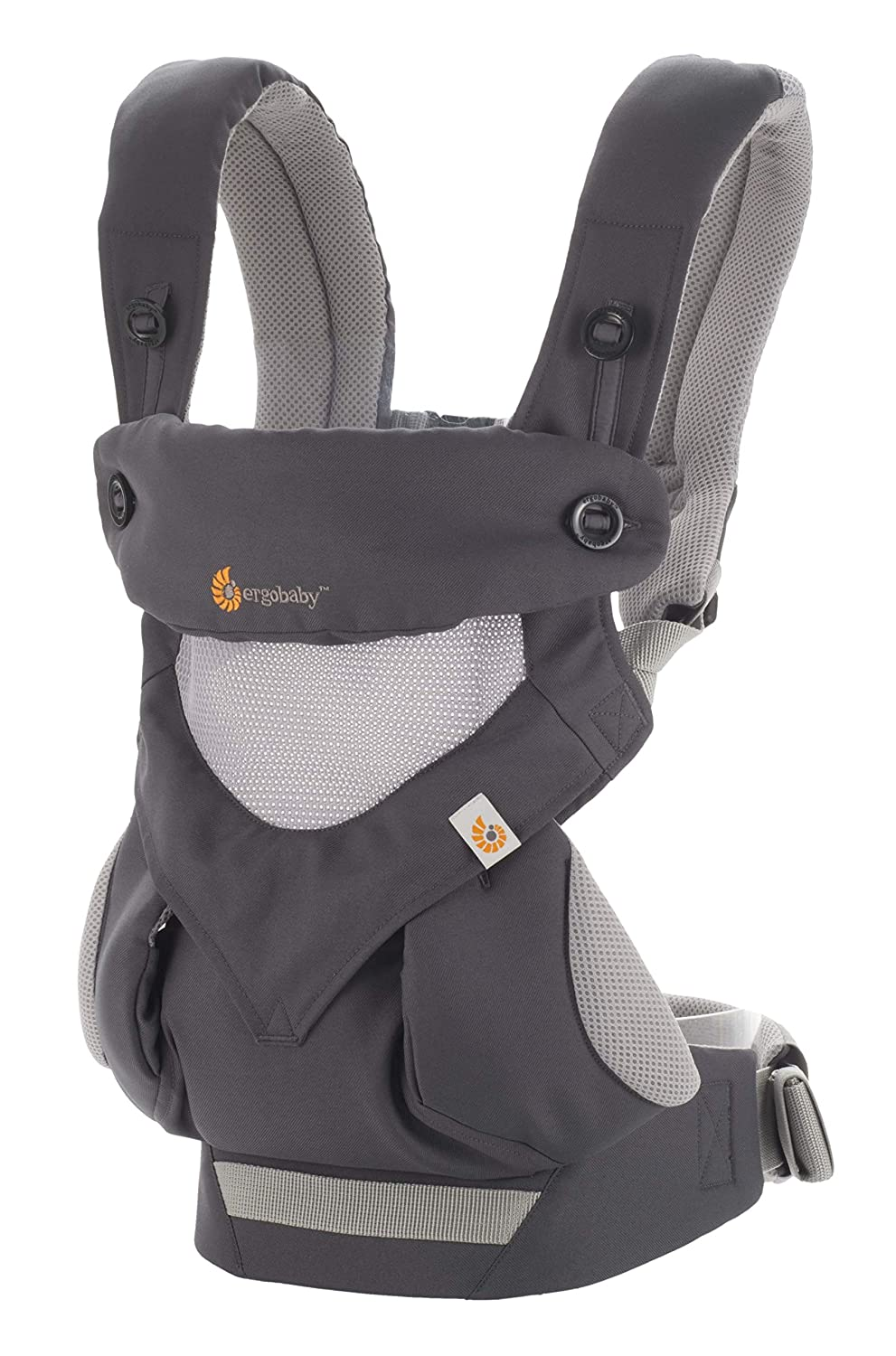 EgoBaby 360 Baby Carrier Black All Carry Positions Lightweight and Breathable
