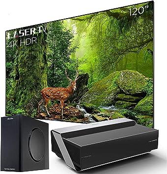 Hisense 120-inch 4K Ultra HD Smart HDR Laser TV 2019 (120L10E): Amazon.es: Electrónica