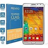 PREMYO verre trempé Note 3. Film protection Galaxy Note 3 avec un degré de dureté de 9H et des angles arrondis 2,5D. Protection écran Note 3