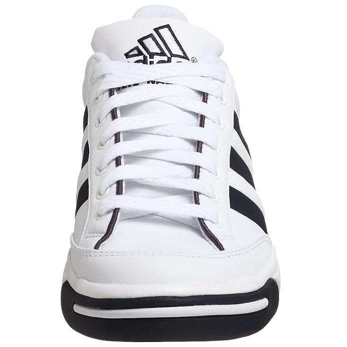 b47e51681e Amazon.com   adidas Men's Nastase Millenium Tennis Shoe, White/Navy, 13.5 M    Tennis & Racquet Sports