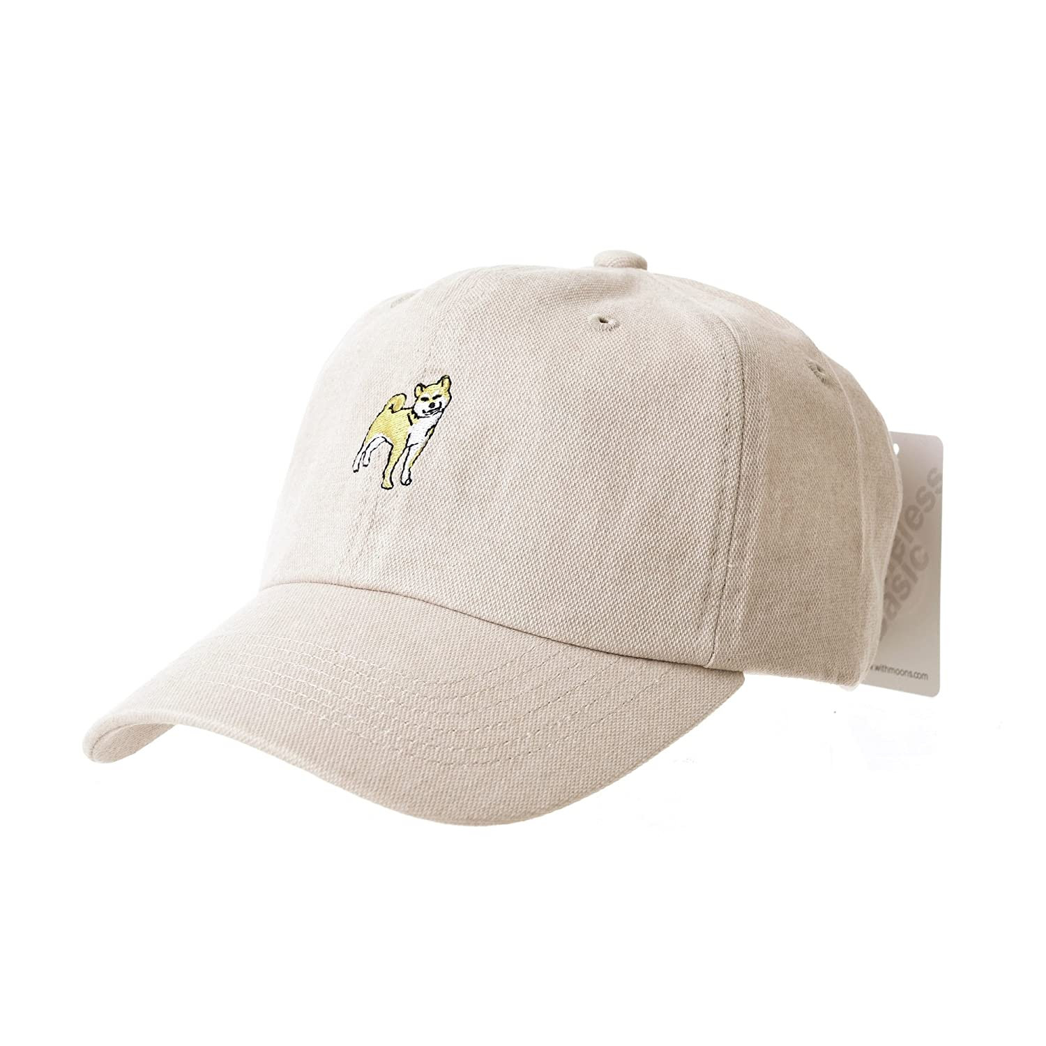 WITHMOONS Baseball Cap Dog Embroidery Shiba Inu Doge Hachi-ko AL1895  (Beige) at Amazon Men s Clothing store  16d7ee11ceb