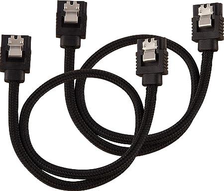 Corsair Premium Sleeved Sata 3 Cable 6gbps 30 Cm Black Computers Accessories