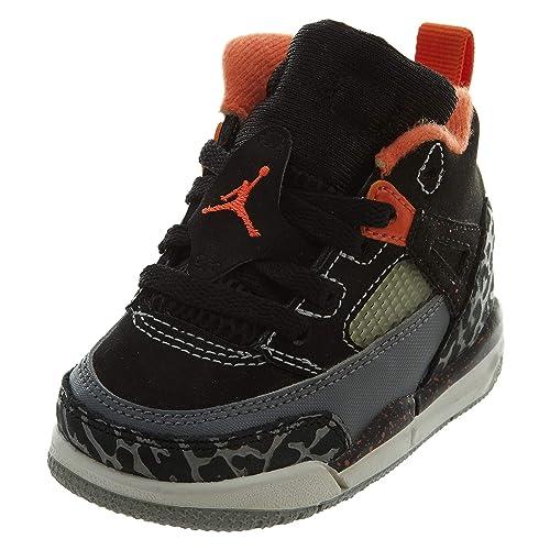 quality design 2f511 e33c8 Nike Jordan Sprizike BT Infant Black Cool Grey Wolf Grey Electro Orange  317701