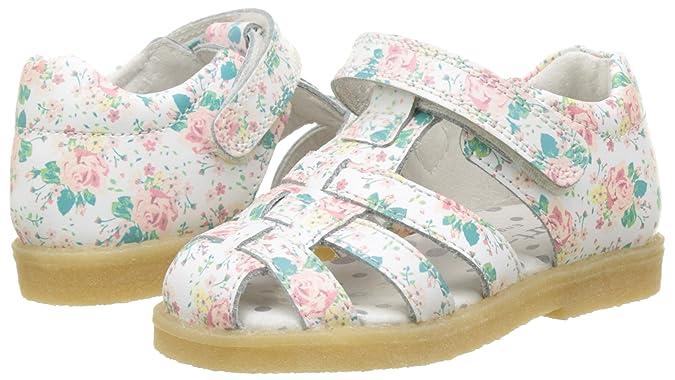 00e2fee11eeca4 Gaatpot Fille Sandales et Nu-Pieds Bout Fermé Chaussure dété pour Enfants  en Cuir 20