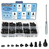 Zmbroll 400Pcs Computer Screws Standoffs Kit SSD Screw for Universal Motherboard PC Computer Case Screw Fan CD-ROM with…
