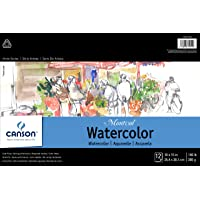 CANSON Artist Series Montval Watercolor Pad, Cold Press Acid Free French Paper, Fold Over, 140 Pound, 10 x 15 Inch, 12…