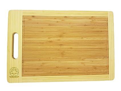 Amazoncom Organic Bamboo Cutting Board Wooden Chopping Board - Restaurant prep table cutting boards