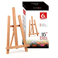 "Quantum Art Wooden Table Top Easel-Essex, Beech Wood, Brown, 390mm-16""-1ft"