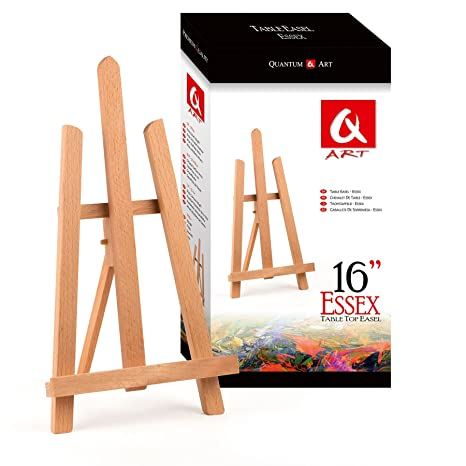 a783eecc7e Quantum Art Essex Table Top Easel, Beech Wood, Brown, 390 mm-16-1 ft:  Amazon.co.uk: Kitchen & Home