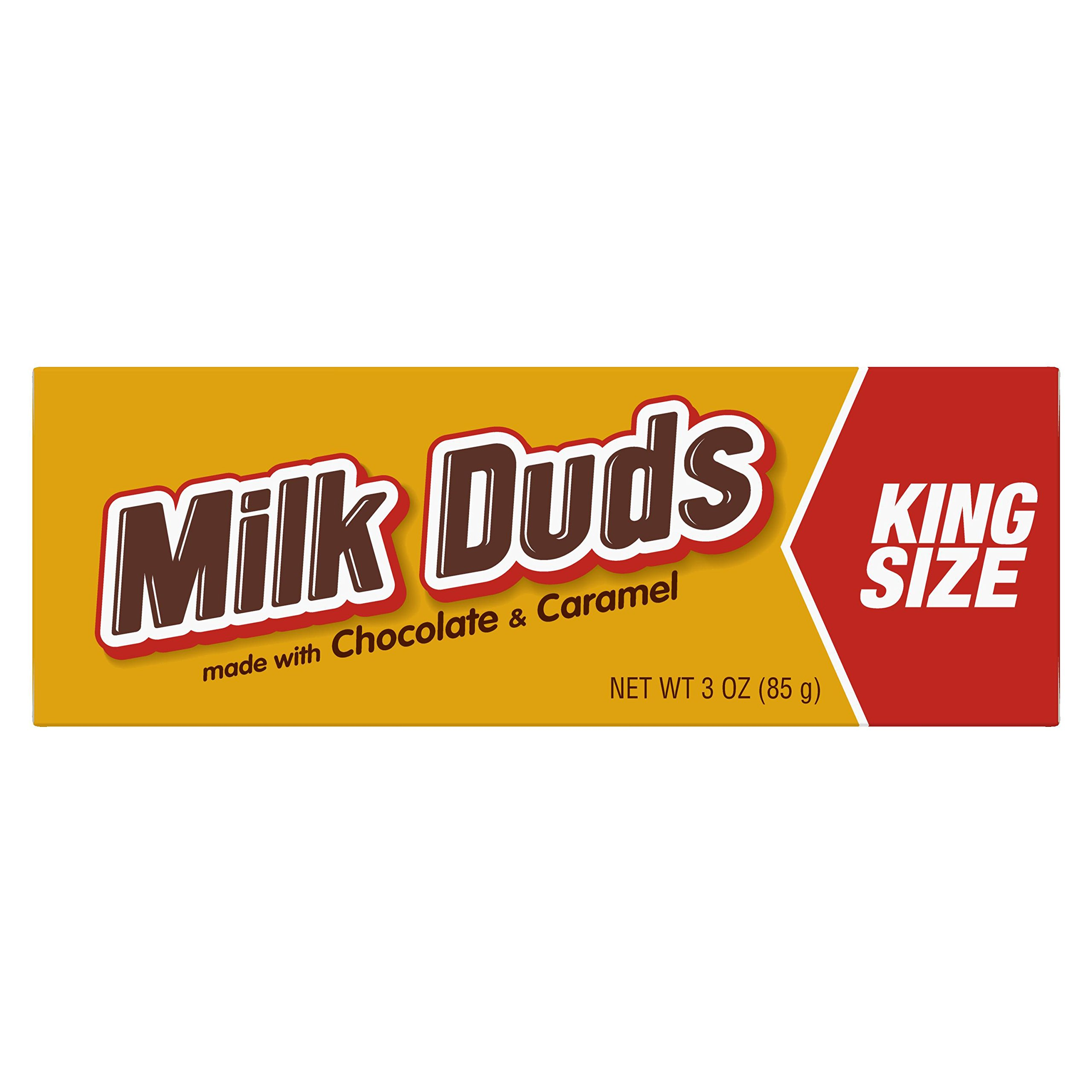 MILK DUDS Chocolate and Caramel Candy, King Size (Pack of 16)