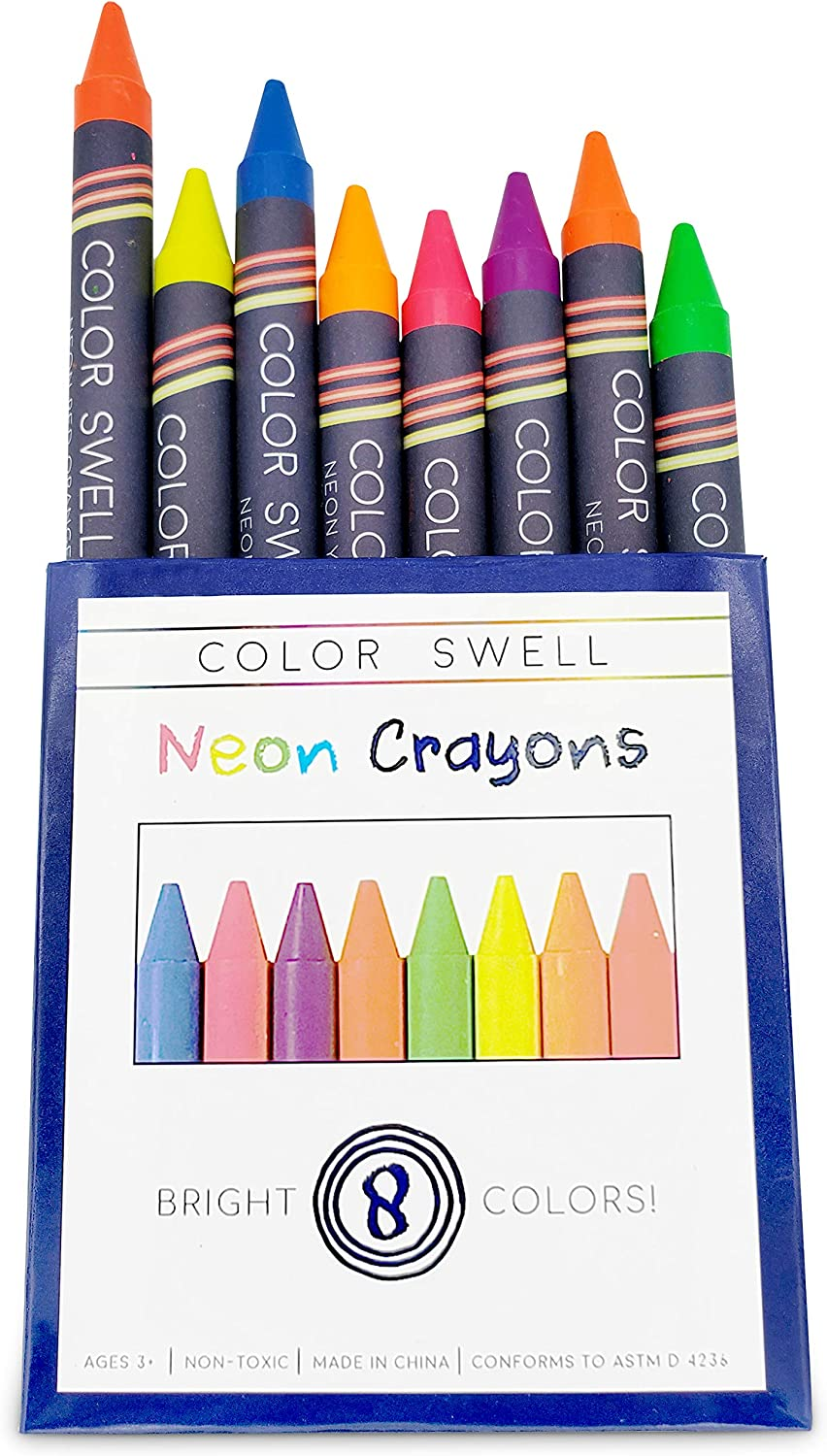 2 Boxes of Fun Neon Crayons of Teacher Quality Durable Classroom Packs for Kids Students Party Favors Color Swell Neon Crayon Bulk Packs