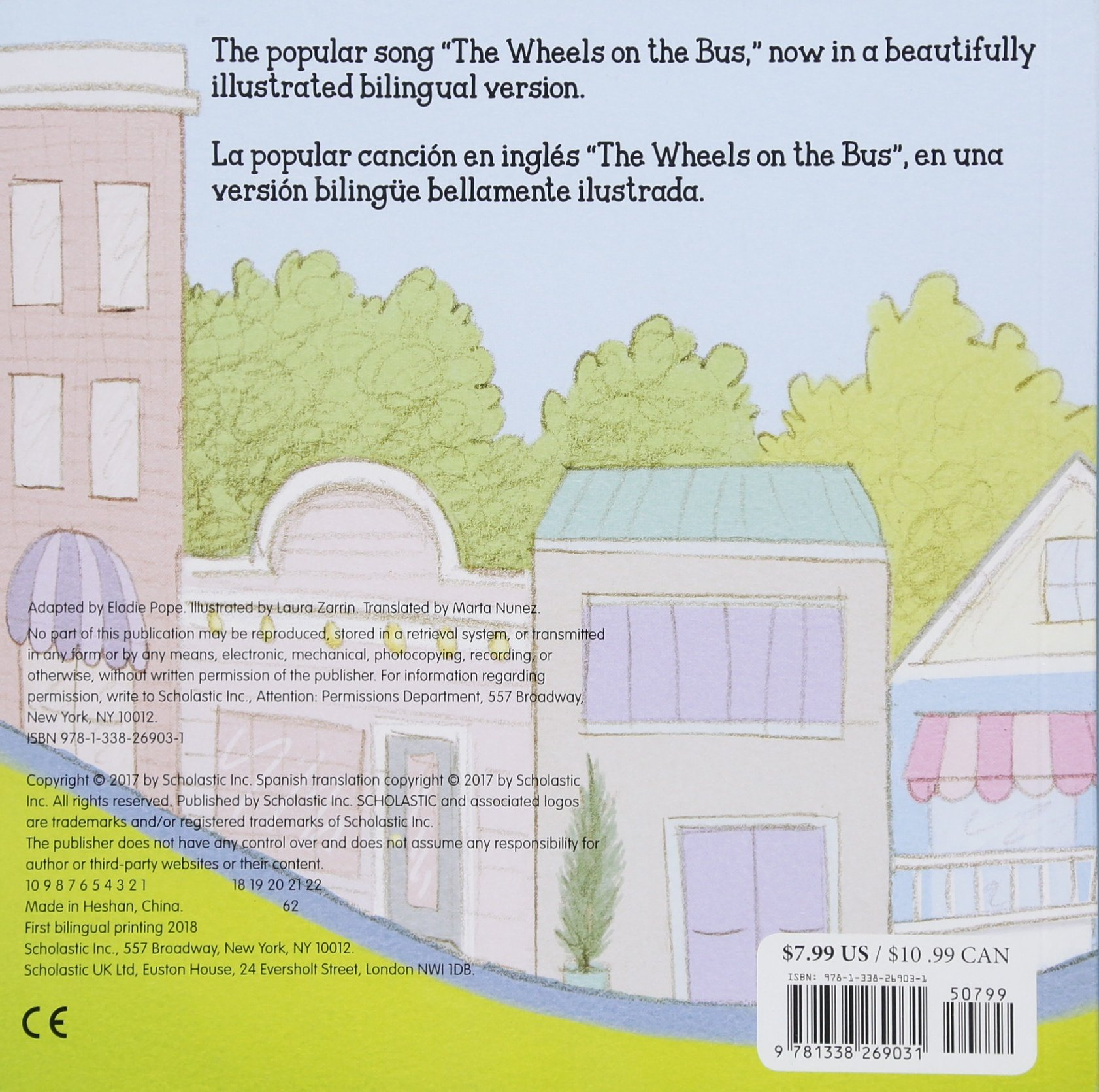 Amazon.com: The Wheels on the Bus / Las ruedas del autobús (Bilingual) (Spanish and English Edition) (9781338269031): Elodie Pope, Laura Zarrin: Books