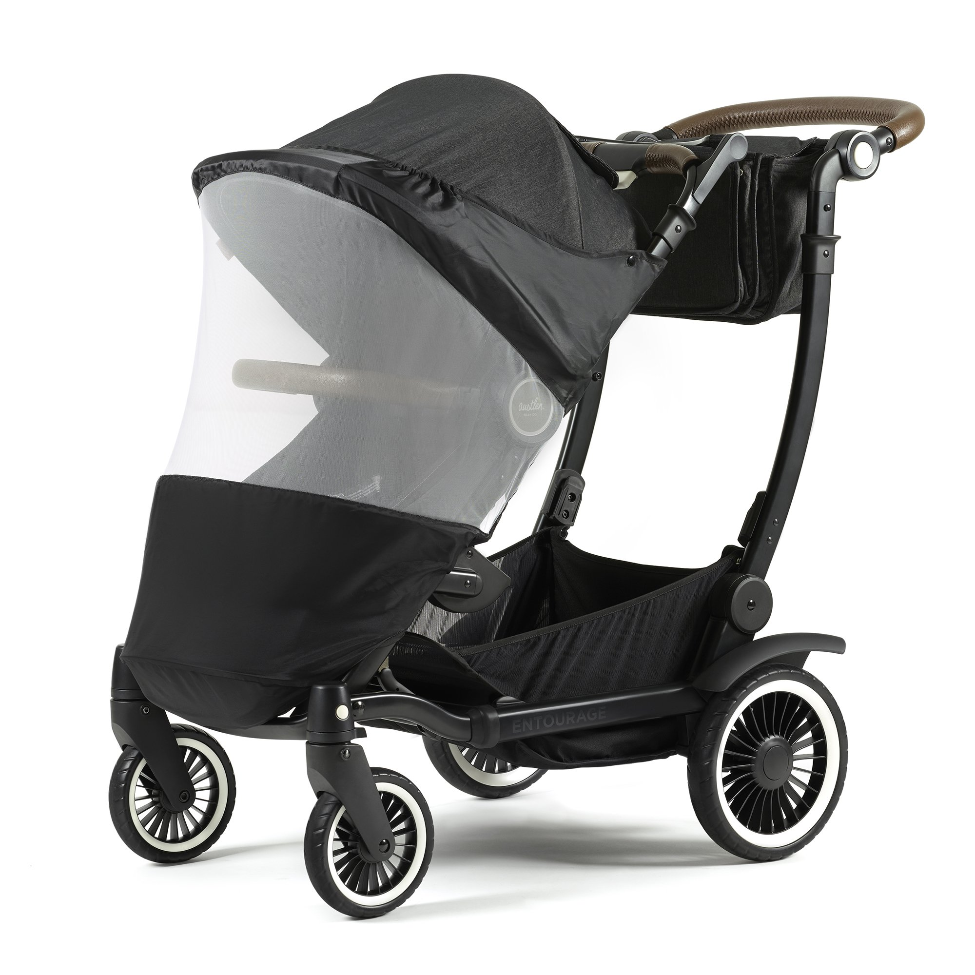 Austlen Entourage Stroller Mosquito Cover: Double Baby Stroller Mosquito Net