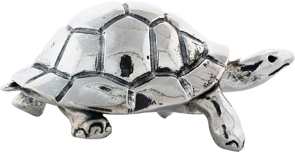 Vintage Silver color turtle trinket box.