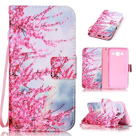 online store 4e553 ebe2f Galaxy On 5 Case, Samsung Galaxy On5 Case, Mellonlu Premium PU Leather  Wrist Strap Wallet Style Flip Cover Case for Samsung Galaxy On5 G550