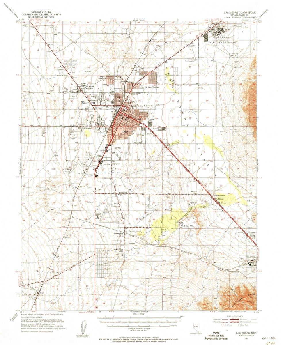 Amazoncom 1952 Las Vegas Nv Usgs Historical Topographic Map - Las-vegas-us-map