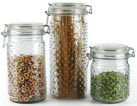 1b363091ce6e Amazon.com: Circleware 68221 Vintage Home Glass Canisters with Swing ...