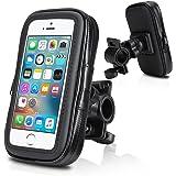 """Support vélo du guidon,Wotek Universel Support fixation guidon avec étui imperméable pour téléphone mobile 4,0 pouces - 4,3 pouces tels que iPhone SE 5S 5 (4.0""""-4.3"""")"""
