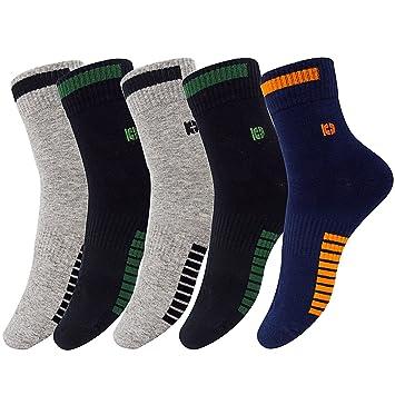 PMIWAOA - Calcetines de deporte - para hombre 2*black/2*grey/1*navy blue: Amazon.es: Deportes y aire libre