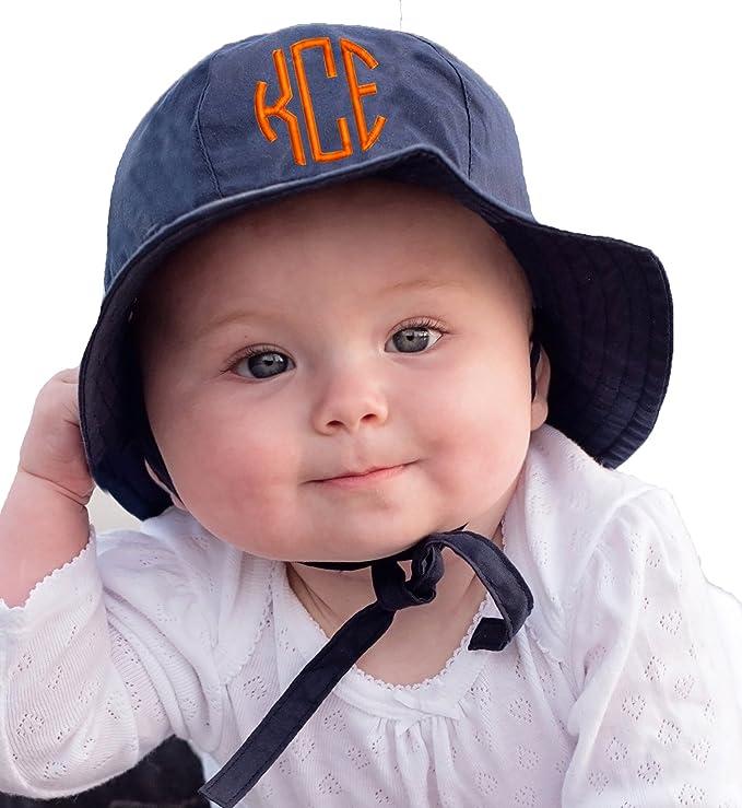 boy or girl with monogram The Original Baby Sun Hat UPF 50