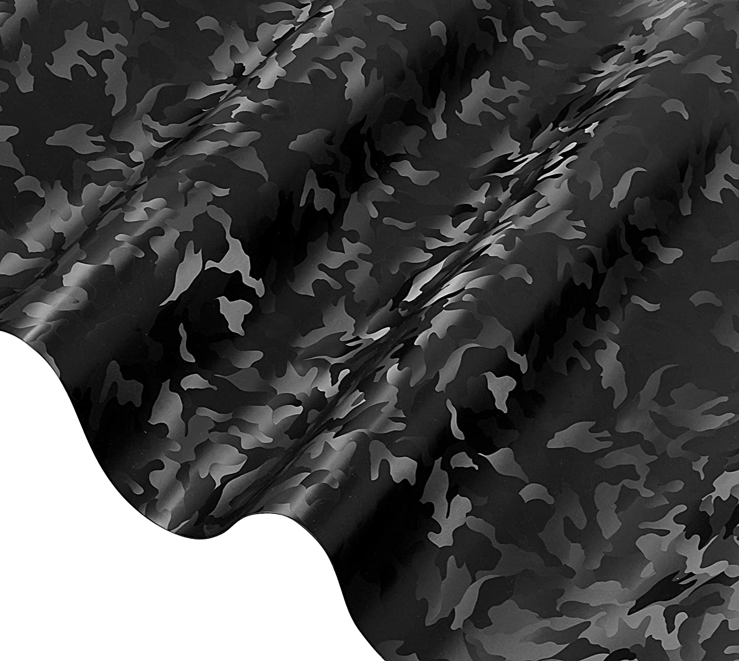 2020 Edition Black Stealth Small Pattern Camouflage Vinyl Wrap Roll 1ft x 5ft VViViD