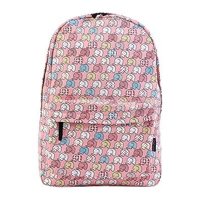 hot sale 2017 Damara Elephants Print Pink Backpack