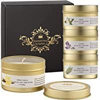 SCENTALICIOUS Scented Candles Gift Set, Aromatherapy Candles for Women, Valentines, Birthday, Diwali - Pure Soy Wax…