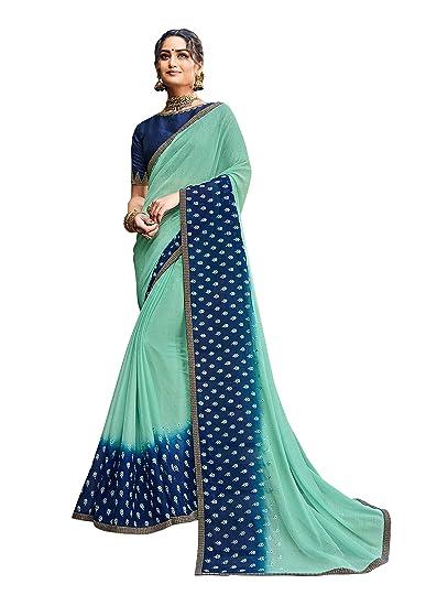 Buy Laxmipati Nitakshi Embroidery Chiffon Saree With Blouse
