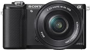 Sony Alpha a5000 Mirrorless Digital Camera with 16-50mm OSS Lens (Black)