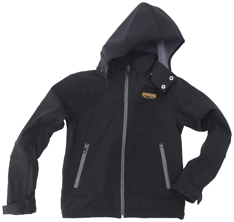 Killtec Kinder Soft Shell Jacke Mit Abknöpfbarer Kapuze Aluisio schwarz 152 19495-000