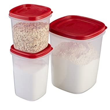 Rubbermaid Easy Find Lids Food Storage Containers, Racer Red, 6-Piece Set 1780200