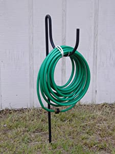 The Lazy Scroll Metal Wrought Iron Look Garden Hose Holder
