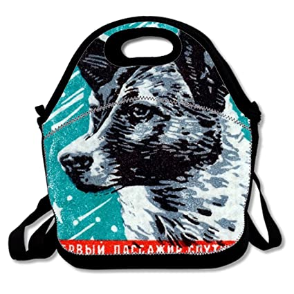 c84c41e9e3f1 Amazon.com: Laika The Space Dog Print Insulated Lunch Tote Bag ...
