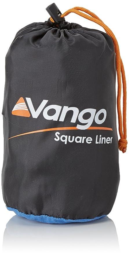 Vango Schlafsack Zubehör Cotton Liner Square - Saco de dormir rectangular para acampada, color azul