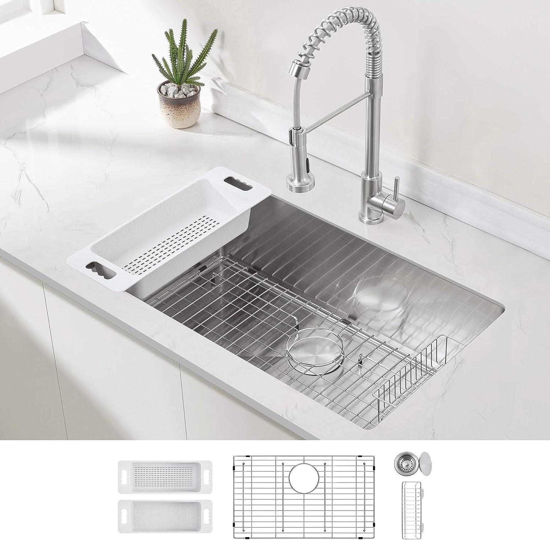 best stainless steel kitchen sinks: Zuhne 32-Inch 16-Gauge Modena32x19