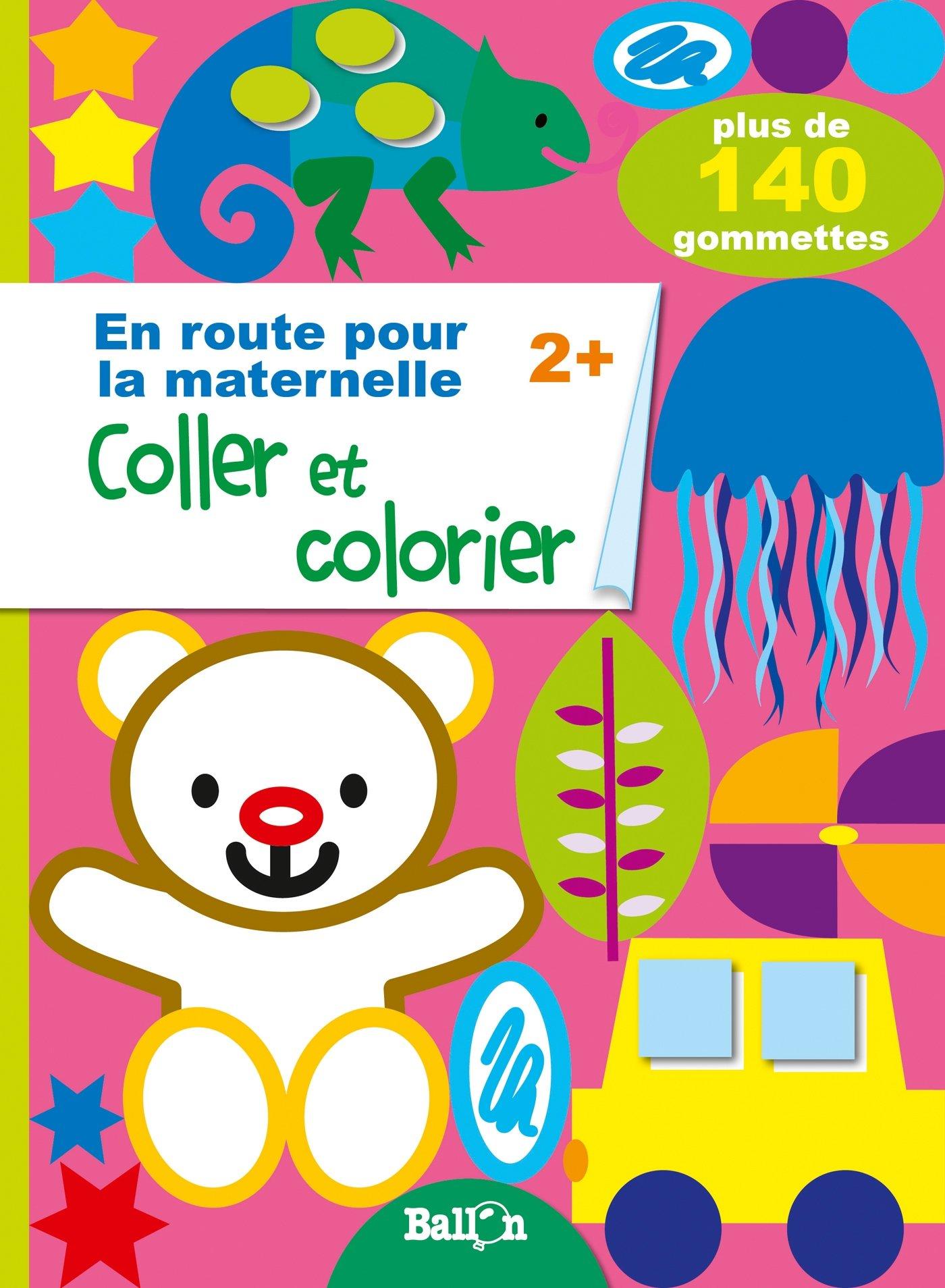 Coller Et Colorier Des 2 Ans Amazon Fr Ballon Livres