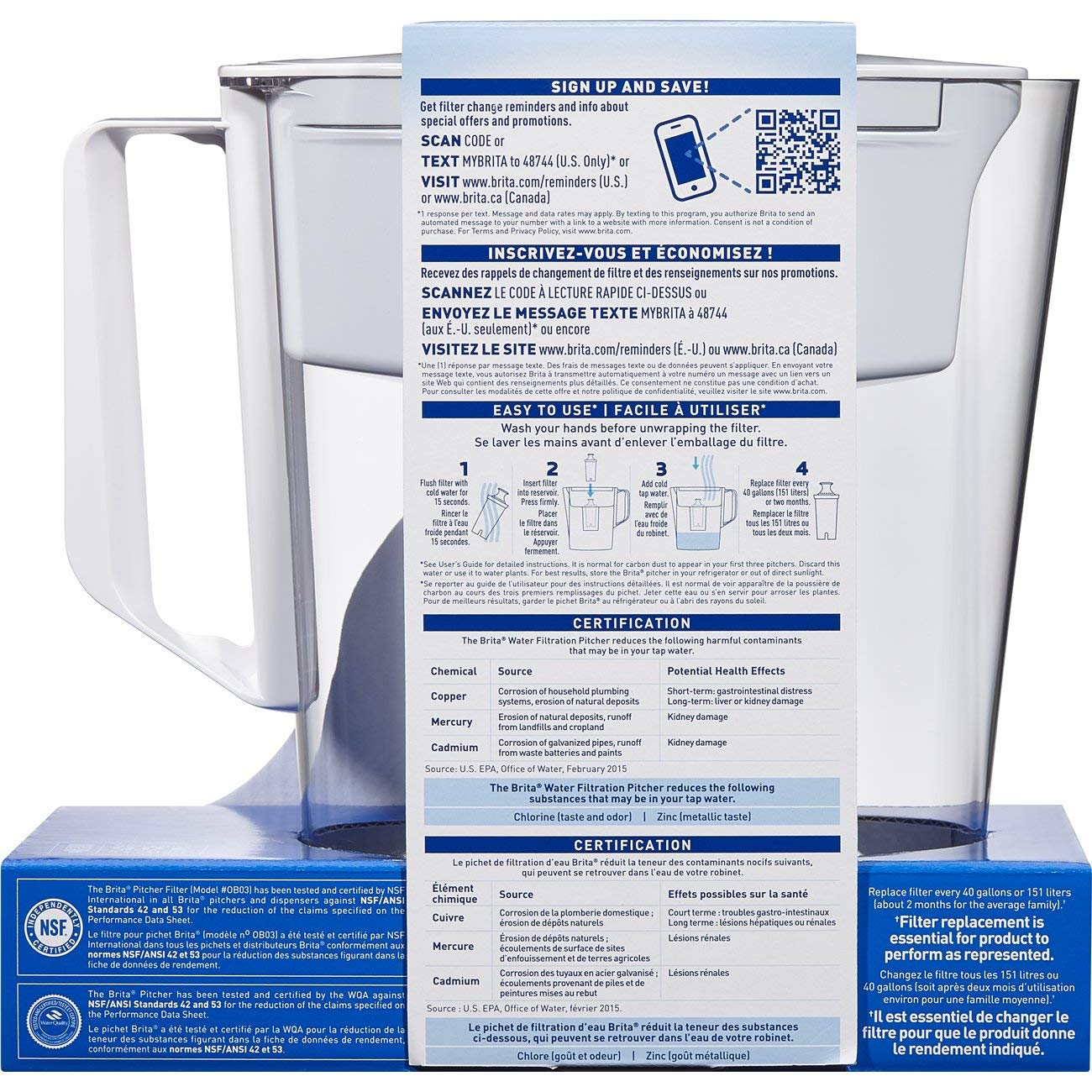 Amazon Brita Small 5 Cup Water Filter Pitcher With 1 Standard