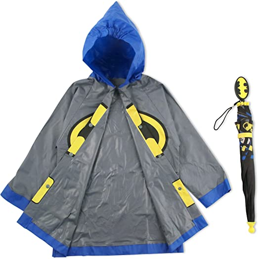 Amazon.com: DC Comics Little Boys Batman or Superman Slicker ...