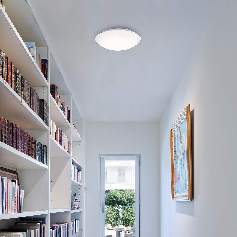 Briloner Leuchten 3362-016 Lámpara de Techo LED con Detector de Movimiento, 15 W, Blanco: Amazon.es: Iluminación