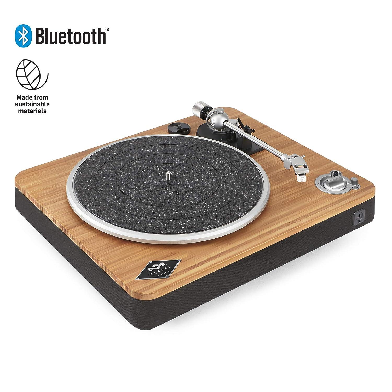 House of Marley Stir It Up Tocadiscos Inalámbrica Bluetooth, 45/33 RPM, Placa de Aleación de Aluminio, Brazo de Metal Rígido, Cartucho MM ...