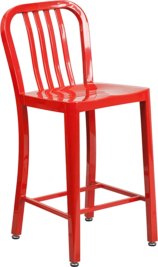 Best Service 6578a B8c4e Red Counter Height Stools
